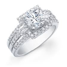 engagement rings chicago this gorgeous diamond engagement ring features 4 baguette cut