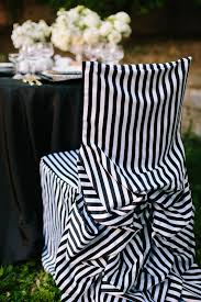 black and white chair covers black and white runway inspired wedding details united with