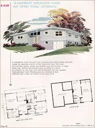 multi level home plans modern contemporary 1955 national plan service plan no e 608