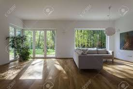 living room modern glass large window living room design with