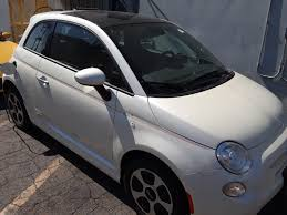 2014 fiat 500e electric white black
