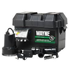 wayne 1 4 hp 12 volt battery backup sump pump system esp15 the