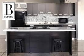 Kitchen Cabinets Before And After An Incredible Diy Rental Kitchen Cabinet Makeover Apartment Therapy