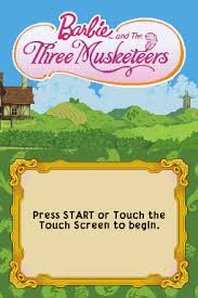 barbie musketeers nintendo ds video games