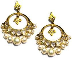 chandbali earrings online flipkart buy amarsons pearls chand bali alloy drop earring