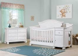 White Crib With Changing Table Finley Crib U0026 Changer Room Shot White Sorelle Furniture