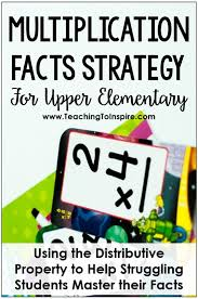 multiplication facts strategy for upper grades freebies