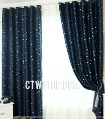 Navy Blackout Curtains Printed Room Blackout Curtains