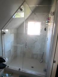Angled Glass Shower Doors Custom Angled Glass Frameless Enclosure Patriot Glass And Mirror