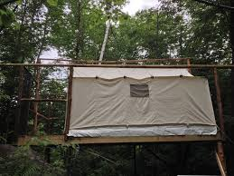 treehouse style glamping wall tent chatham white mountains new