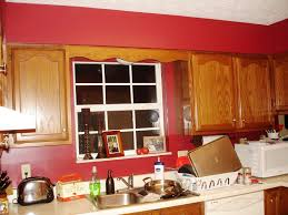 Red Kitchen Walls With White Cabinets by Pictures For Kitchens Walls Zamp Co
