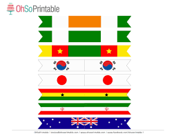 Printable Flags Free World Cup Soccer Printables From Ohsoprintable Catch My Party