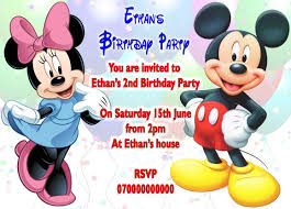 mickey mouse birthday minnie mouse and mickey mouse birthday party invitation