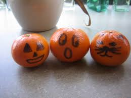 tangerine jack o lanterns halloween food for kids pinterest
