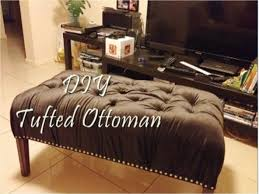 How To Make An Ottoman Out Of A Coffee Table Diy Tufted Ottoman Bench
