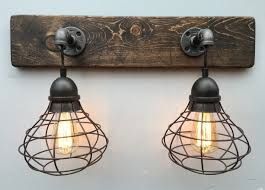 Wonderful Rustic Vanity Lights Cedarwood Triple Bath Vanity Light - Bathroom vanity light with shades