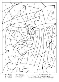 halloween color by letter witch coloring page halloween