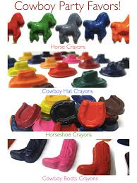 horseshoe party favors cowboy crayon party favors birthday party ideas
