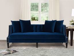 jennifer taylor caroline recessed tuxedo sofa couch navy blue for