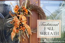 fall wreaths easy diy fall wreath hometalk