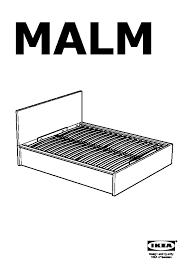 Ikea Malm Bed Frame Instructions Malm Bed Frame With Storage Black Brown Ikea Canada English