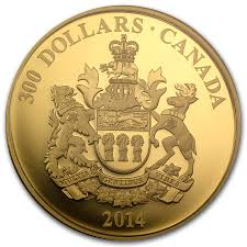 2014 canada proof gold 300 saskatchewan coat of arms gold bullion