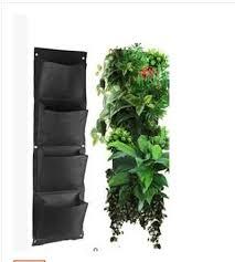 4 layers pocket vertical green wall planters potato bag vertical