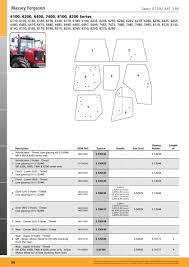 cab glass massey ferguson page 110 sparex parts lists