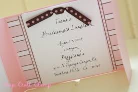 bridesmaid luncheon wording handmade simple blue stripe bridal shower invitation wording for