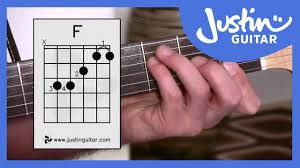tutorial kunci gitar f 3 ways of playing f chord guitar lesson guitar for beginners