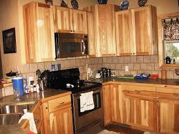 knotty hickory kitchen cabinets kitchen farmhouse remodel ideas