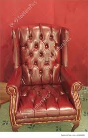 Leather Armchair Traditional Leather Armchair Photo
