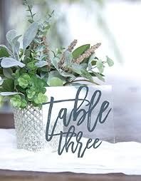 acrylic table numbers wedding amazon com wedding table numbers clear centerpieces glass look for