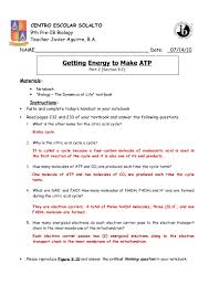 getting energy to make atp part 2 pp 232 233 answer key