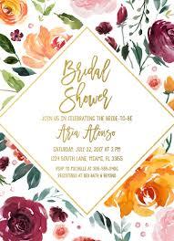 bridal shower brunch invites fall bridal shower invitation marsala bridal shower invitation