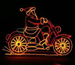 the aisle animated motorcycle santa rope light reviews