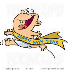 new year sash excited baby running with a happy new year sash 11325 by