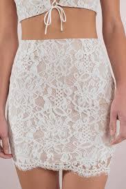 lace skirt harmony white lace mini skirt 29 tobi us
