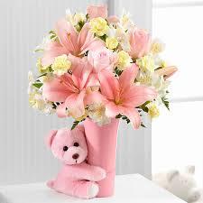 flowers gift baby girl big hug bouquet gift basket delivery