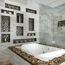 bathroom niche ideas niches design a tub deck and glass mosaic wall niches dress up