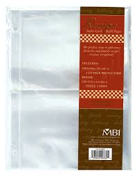 scrapbook refill pages mbi 5x7 inch recipe 2 up refill pages 10pk 20