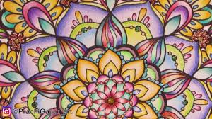 how to colour a mandala colouring in color me inspired by
