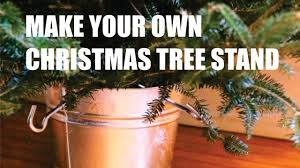 diy cristmass tree stand homemade video tutorial youtube