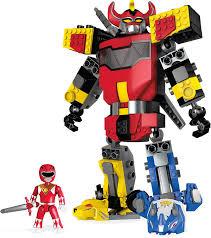 Megazord Halloween Costume Amazon Mega Construx Mighty Morphin Power Rangers Mighty