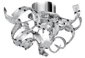 ribbon light sparkles polished chrome 5 light acrylic ribbon semi flush 6295 5cc