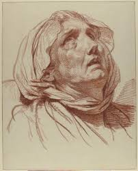 jean baptiste greuze 1725 1805 head of an old woman looking up