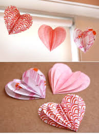 Valentine S Day Office Decorating Ideas by Best 25 Paper Hearts Ideas On Pinterest Valentine Day Crafts