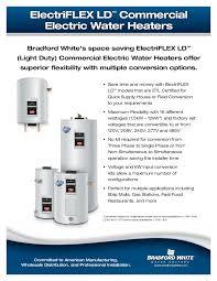 electriflex ld utility electric models bradford white water