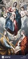 martini virgin virgin mary and child with st agnes and st martina by el greco