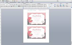 microsoft word barbecue invitation template my diy designs